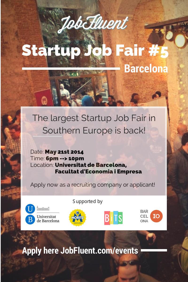 Barcelona Startup Job Fair (edition #5)