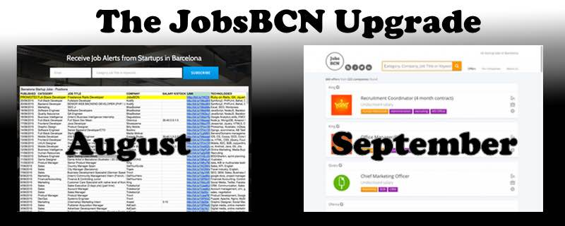 JobsBCN gets an upgrade